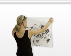 How to attach a sticker to the wall - step 5