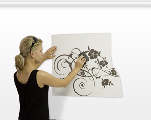 How to attach a sticker to the wall - step 6