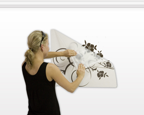 How to attach a sticker to the wall - step 7