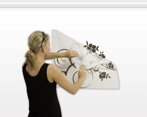 Wie soll man ein Wandtattoo an die Wand anbringen? - Schritt 7