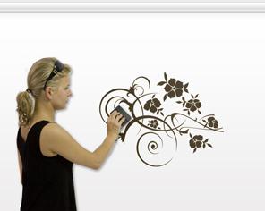 Jak przyklejać naklejki na ścianę - krok 8