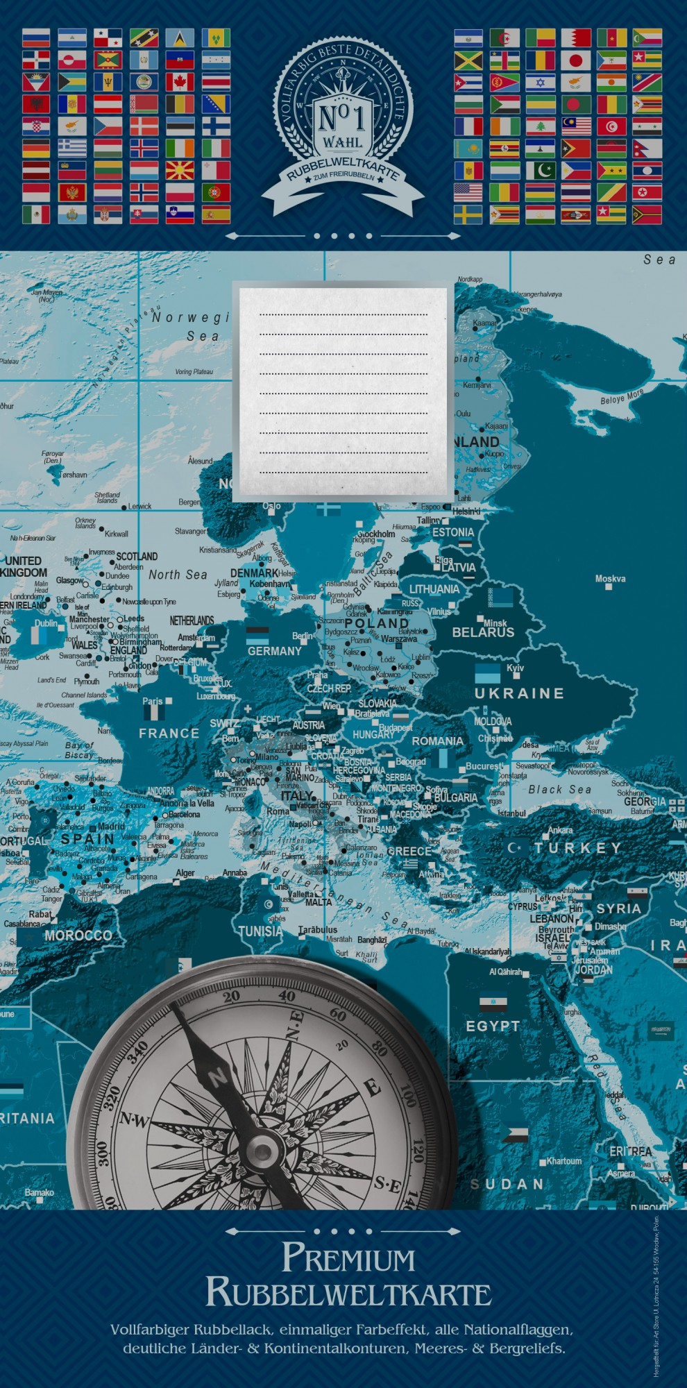 Weltkarte zum Rubbeln Goldene Weltkarte - Neu - Poster (Englische ...
