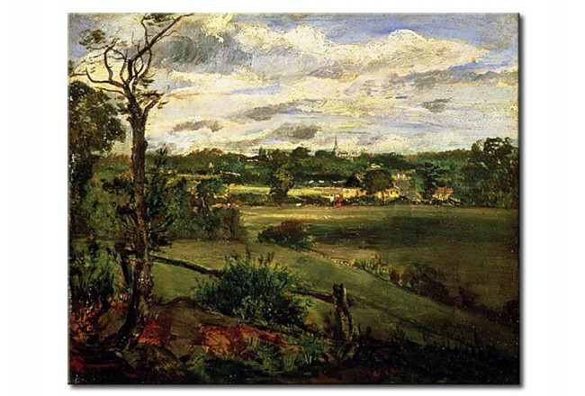 Tableau reproduction View of Highgate from Hampstead Heath 111500