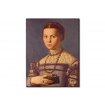 Quadro famoso Portrait of a young girl with a book 112900