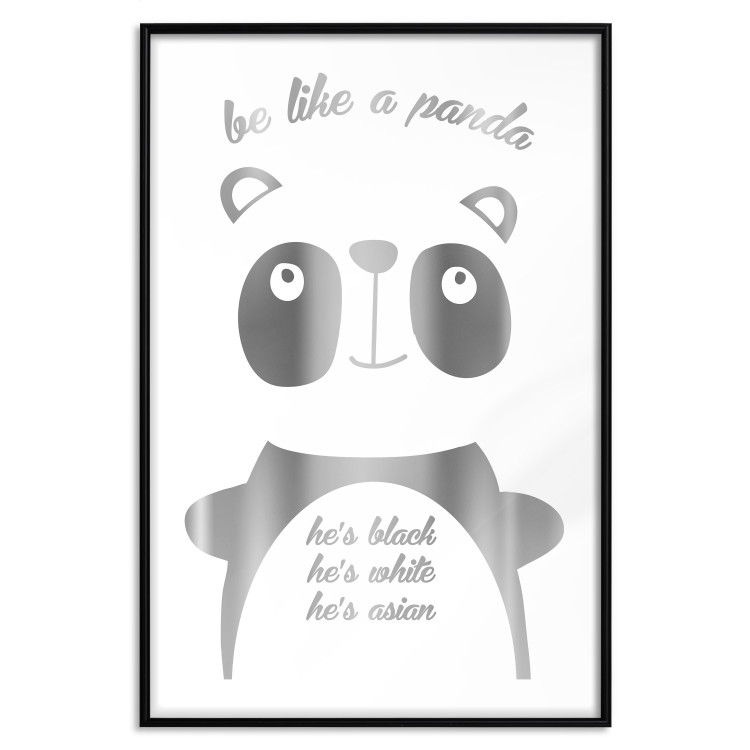 Be Like a Panda [Deco Poster - Silver]