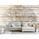 Wall Mural Tree on Boards 127810