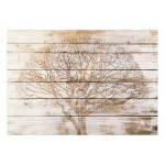 Wall Mural Tree on Boards 127810 additionalThumb 1