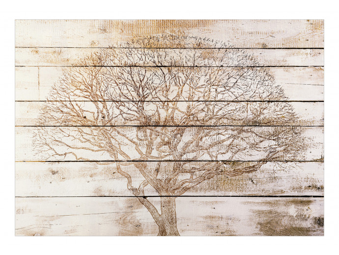 Wall Mural Tree on Boards 127810 additionalImage 1