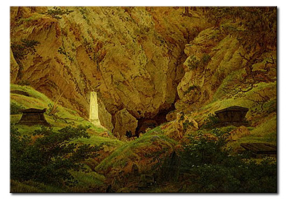 Reproduction Painting Graves Of Ancient Heroes Caspar David Friedrich Reproductions
