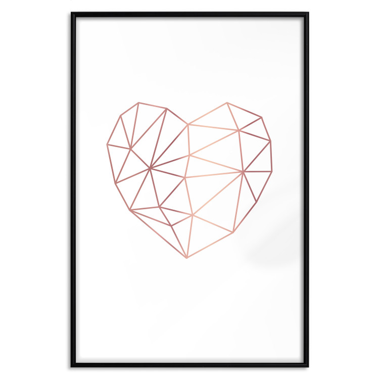 Love Mosaic [Deco Poster - Rose Gold]