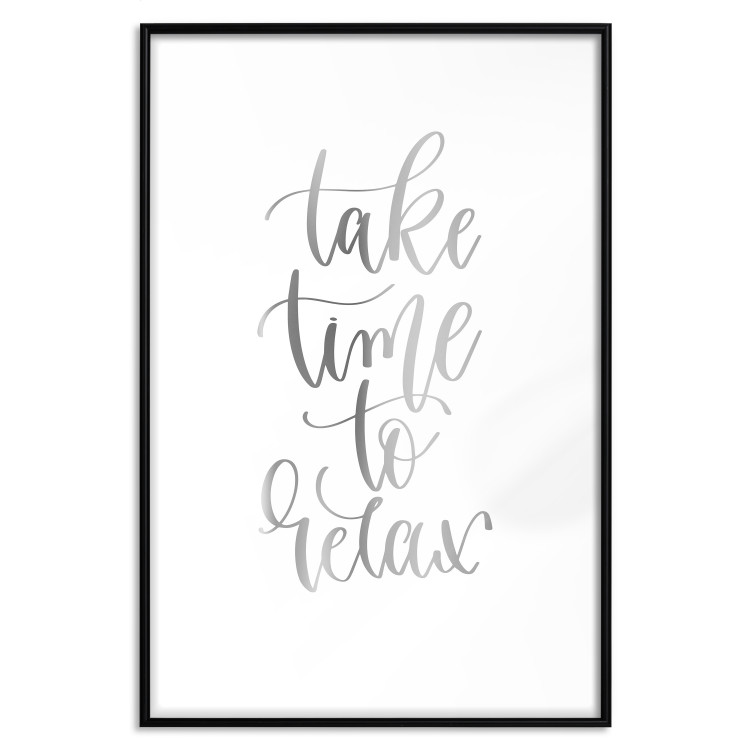 Take Time to Relax [Deco Poster - Silver]
