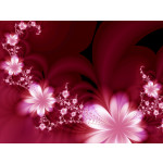 Photo Wallpaper Floral dream 60720 additionalThumb 1