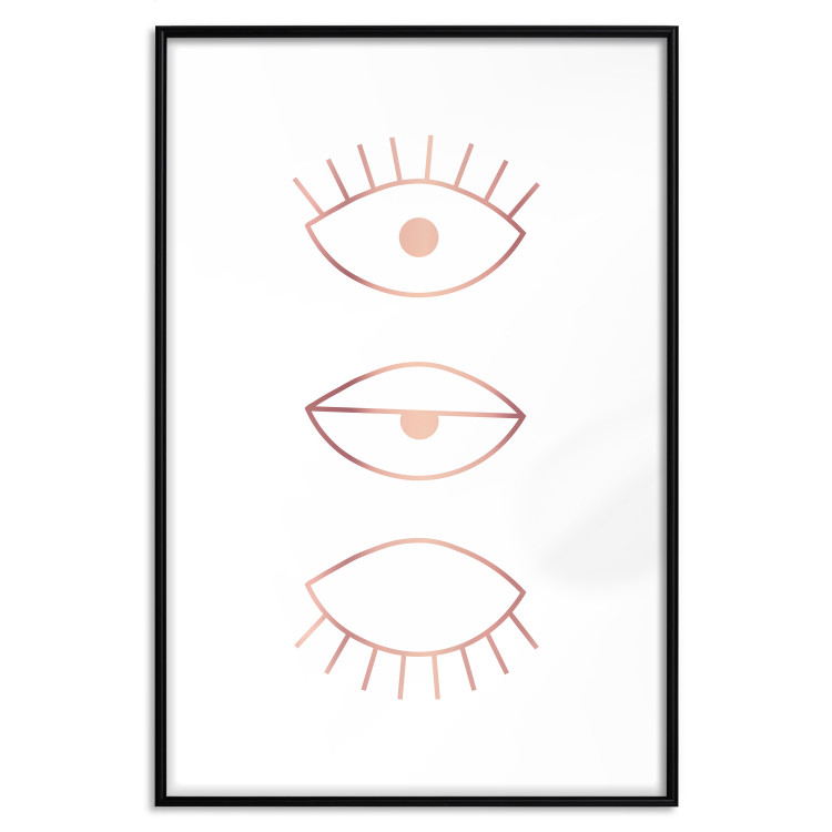 In the Blink of an Eye [Deco Poster - Rose Gold]