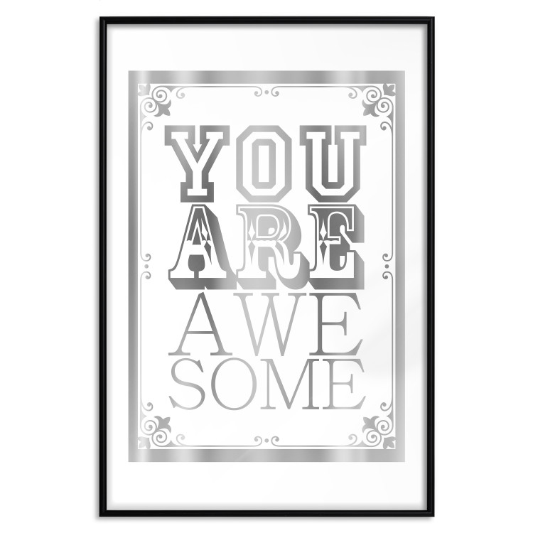 You Are Awesome [Deco Poster - Silver]