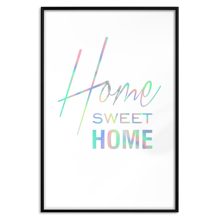 Black and White: Home Sweet Home [Deco Poster - Holographic]