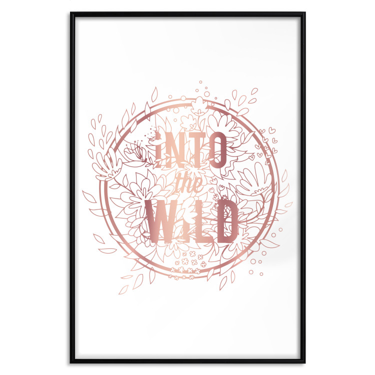 Into The Wild [Deco Poster - Rose Gold]