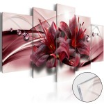 Acrylic print Pink Lily [Glass] 93730