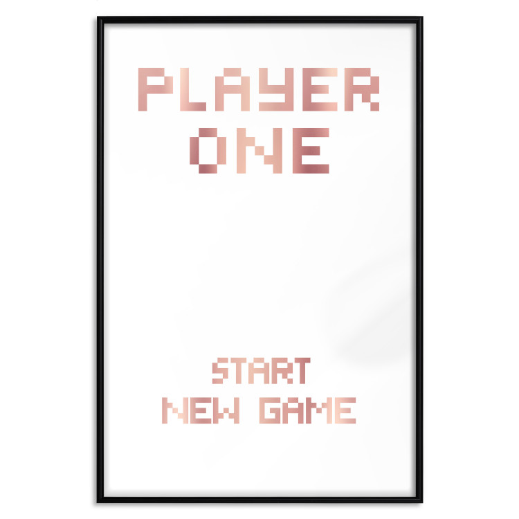 Start new game [Deco Poster - Rose Gold]