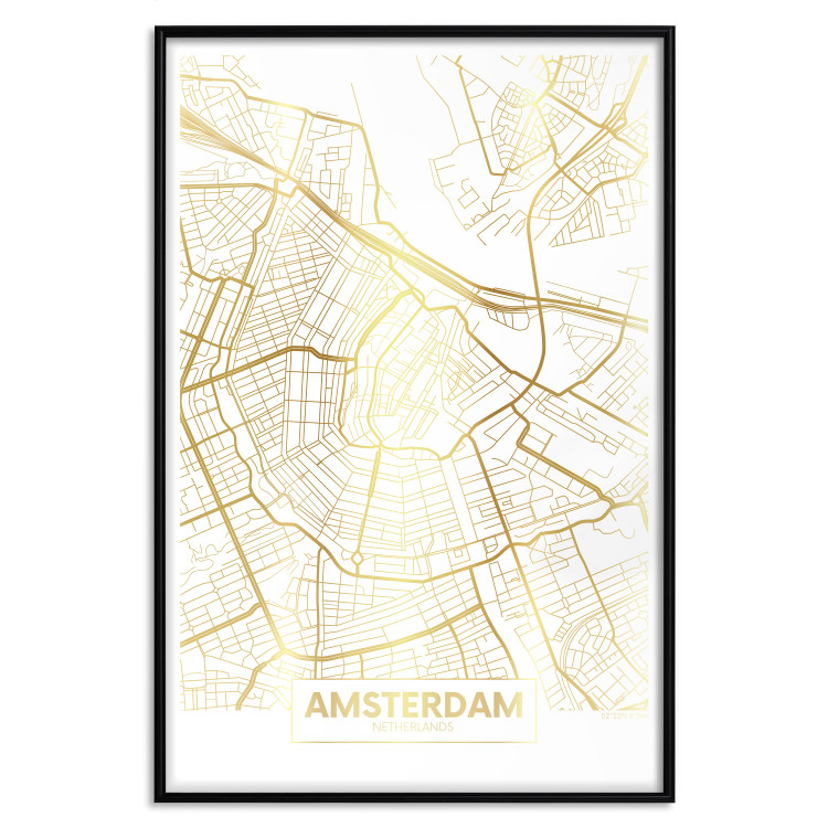 Map of Amsterdam [Deco Poster - Gold]