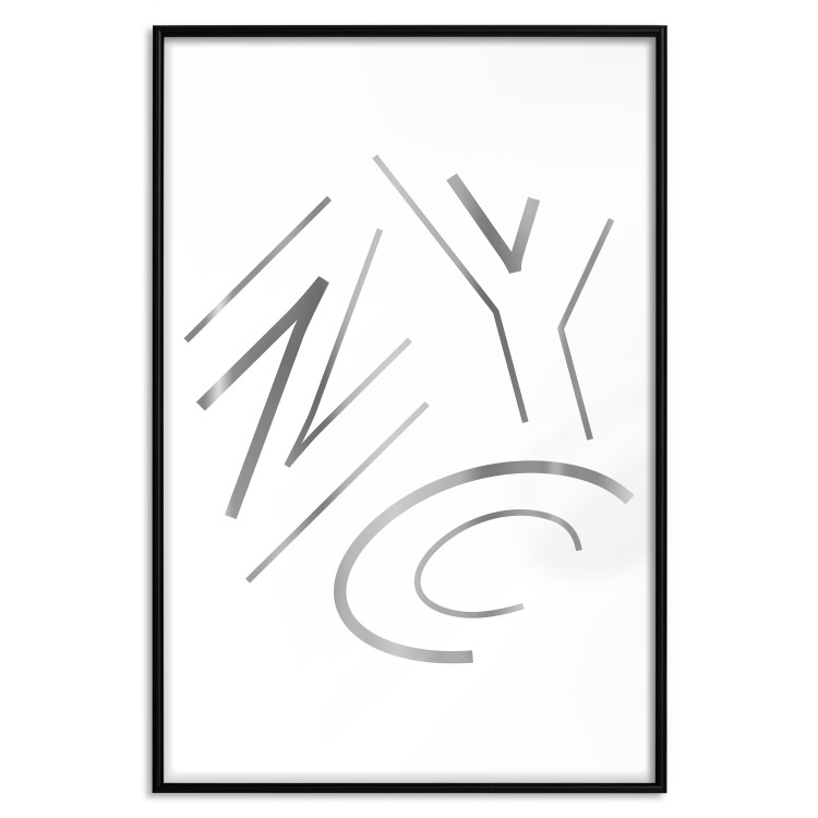 NYC [Deco Poster - Silver]