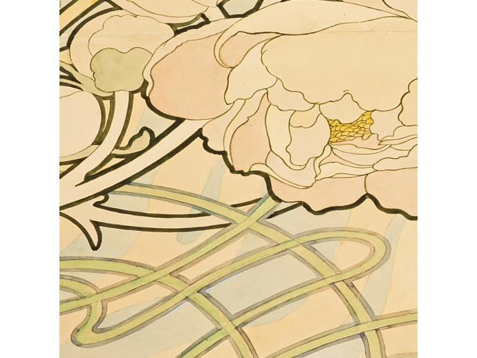 Wallpaper Flowers Art Deco 89450 additionalImage 2