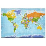 Dekorative Pinnwand World Map: Countries Flags [Cork Map] 95950 additionalThumb 1