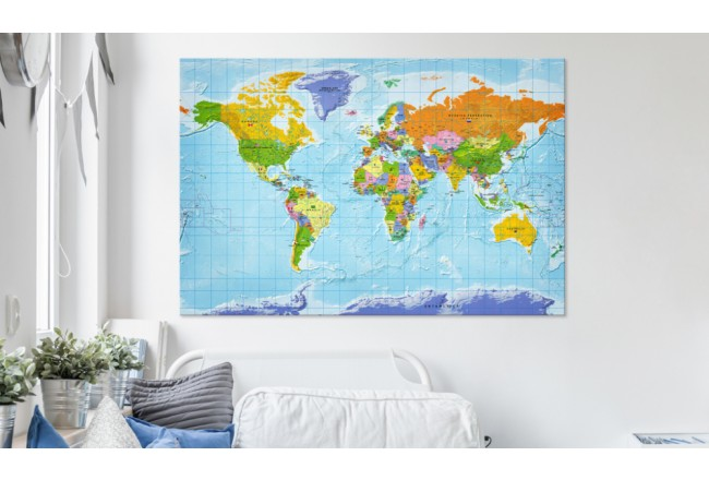 Dekorative Pinnwand World Map: Countries Flags [Cork Map] 95950 additionalImage 2