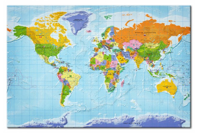 Dekorative Pinnwand World Map: Countries Flags [Cork Map] 95950 additionalImage 1