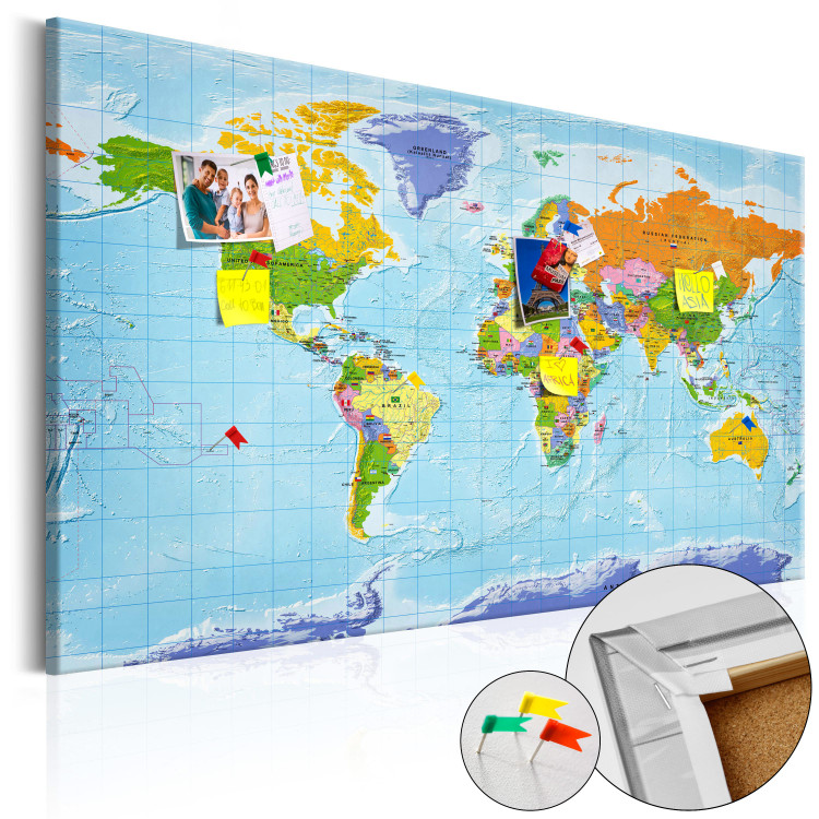 World Map: Countries Flags [Cork Map]