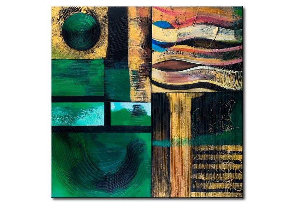 Foto en lienzo colina verde modernos abstractos cuadros - Bimago cuadros modernos ...