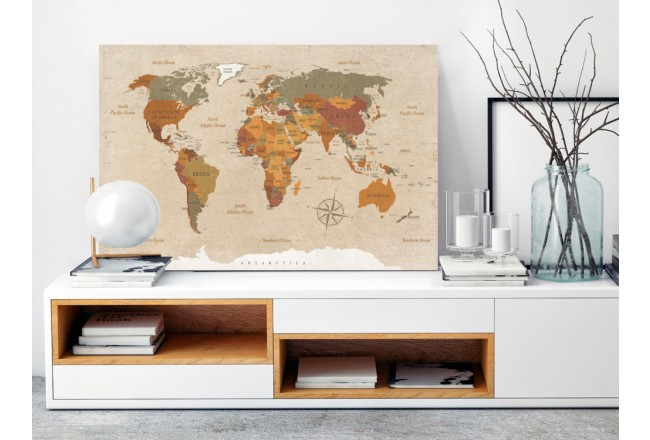 Quadro Beige Chic [Cork Map] 92160 additionalImage 3