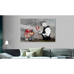 Print On Glass Mario and Cop by Banksy [Glass] 94370 additionalThumb 2