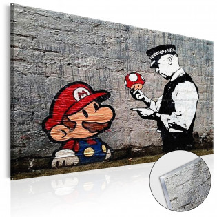 Mario and Cop by Banksy [Glass]