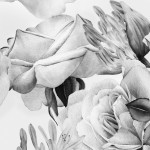 Modern Wallpaper English Flowers (Black and White) 117980 additionalThumb 2