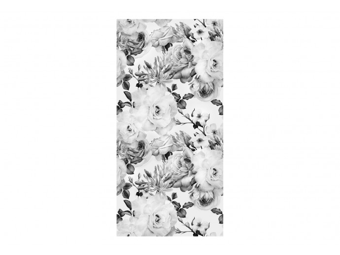 Wallpaper English Flowers (Black and White) 117980 additionalImage 1