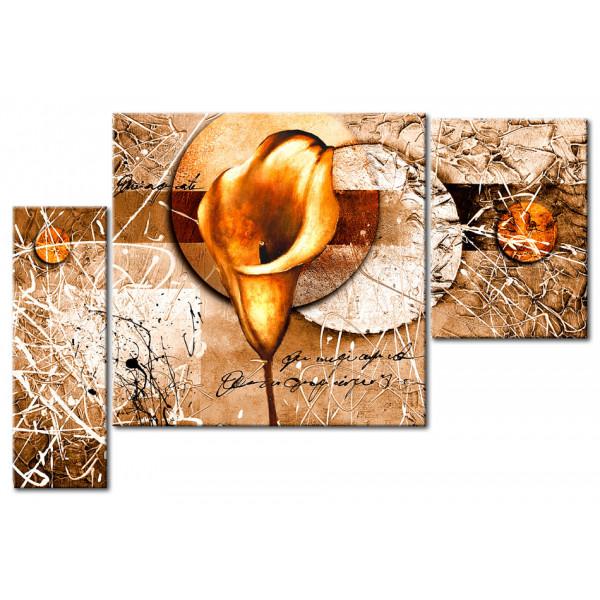 Wandbild Goldene Calla XXL