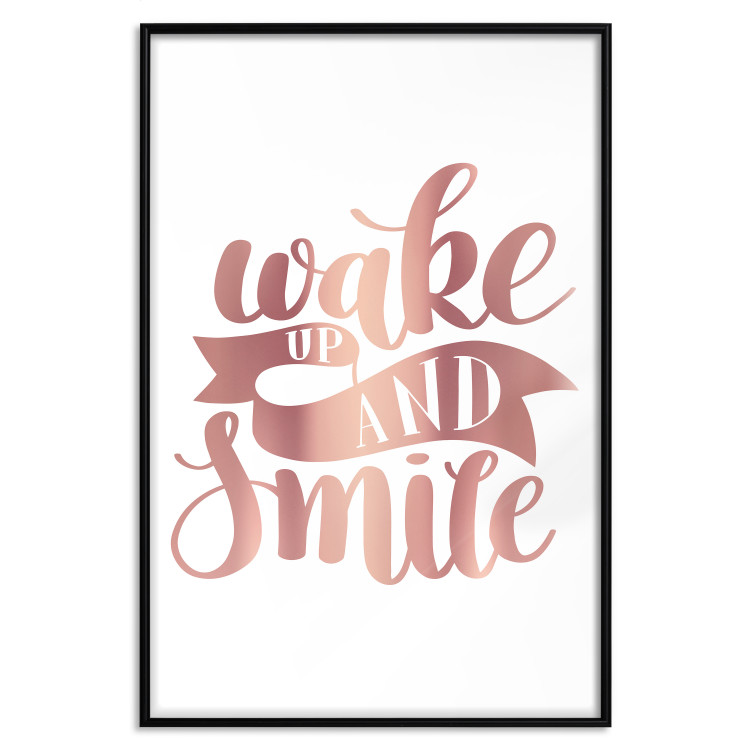 Wake up and Smile [Deco Poster - Rose Gold]