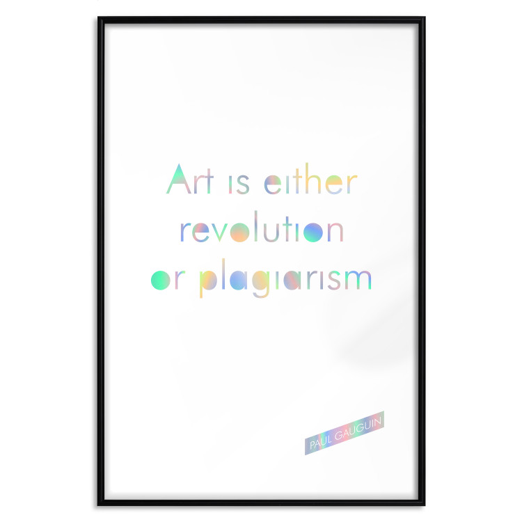 Art Is Either Revolution or Plagiarism [Deco Poster - Holographic]