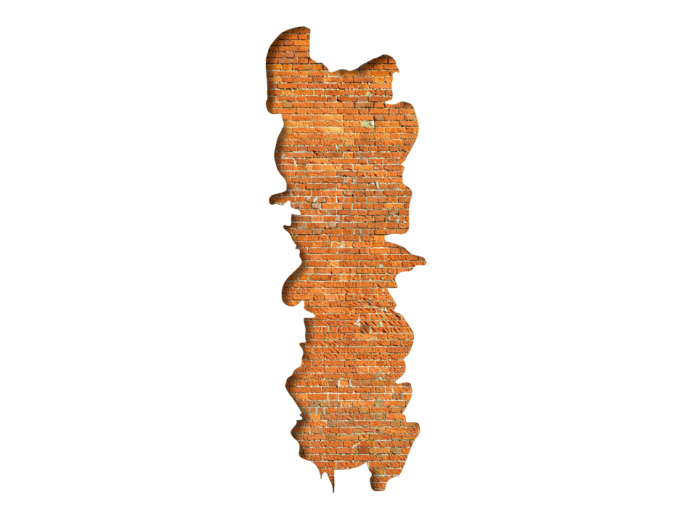 Vinilo decorativo Visual illusion: Original brick 90701