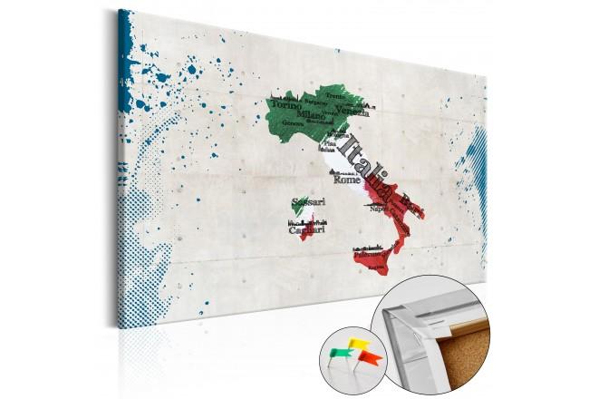 Cork Pinboard Italy [Cork Map] 92201