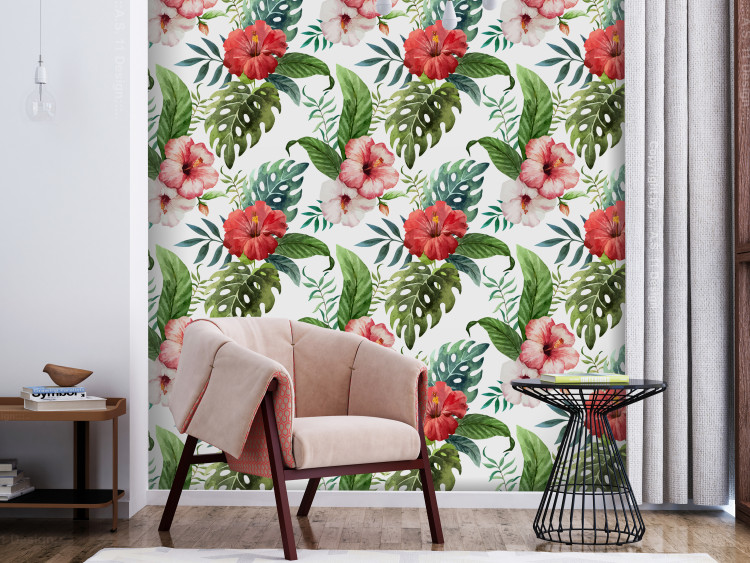 Tropical Flowers (Red)
