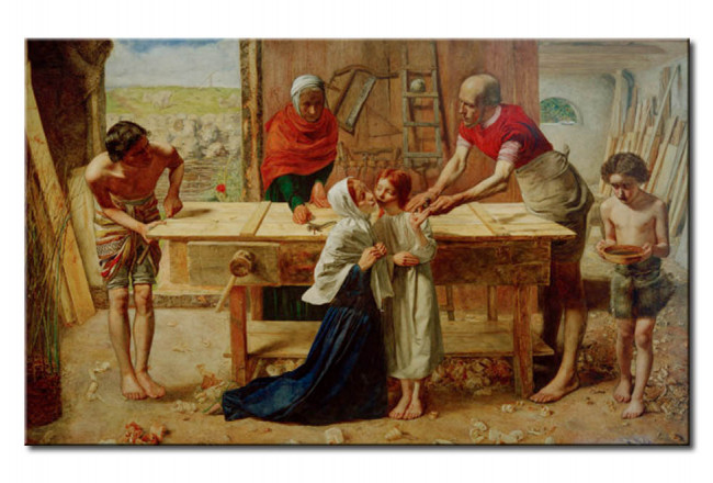 Wandbild Christ in the House of His Parents' (od. The Carpenter's Shop) 109611