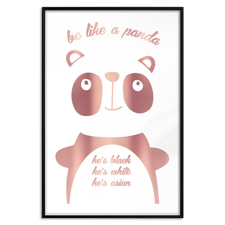 Be Like a Panda [Deco Poster - Rose Gold]