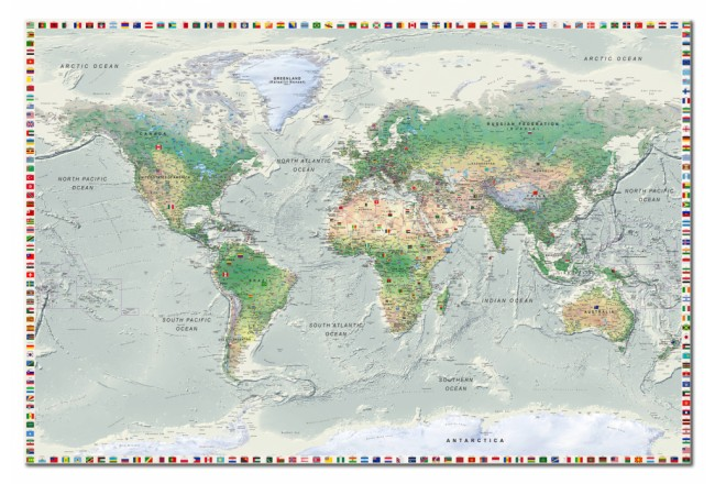 World Map: Graphite Currents [Cork Map] 98011 additionalImage 1