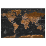 Tableau pêle-mêle en liège Brown World Map [Cork Map - French Text] 105921 additionalThumb 1