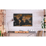 Tableau pêle-mêle en liège Brown World Map [Cork Map - French Text] 105921 additionalThumb 2