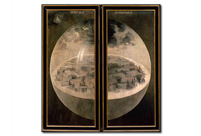 Art Reproduction The Creation of the World, closed doors of the triptych  \u0027The Garden of Earthly Delights\u0027