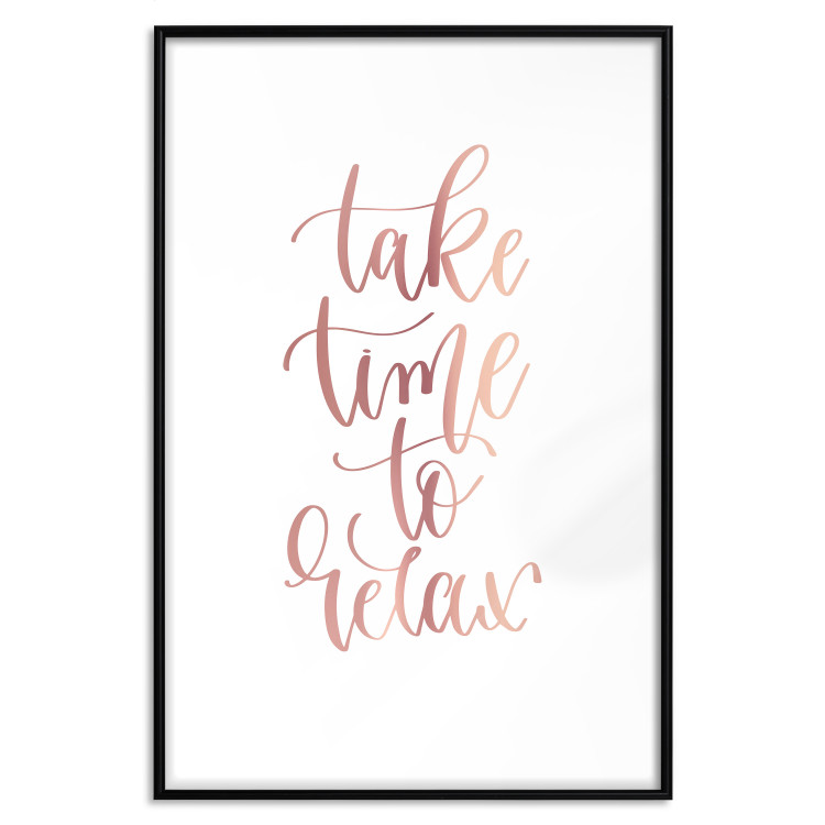 Take Time to Relax [Deco Poster - Rose Gold]