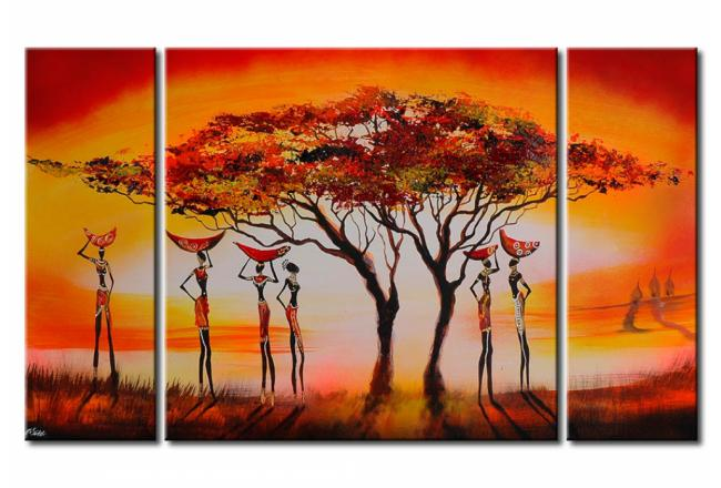 Tableau contemporain Africains 49321