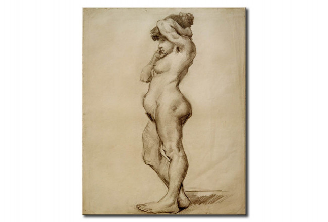 Reproduction Painting Standing Fenale Nude 52321